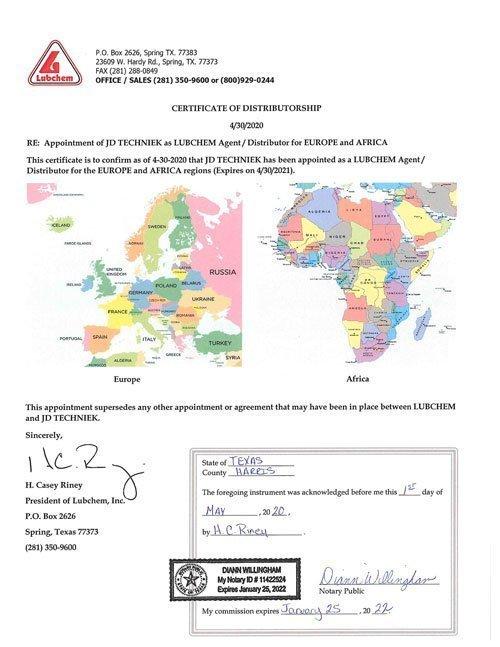 Certificaat Lubchem
